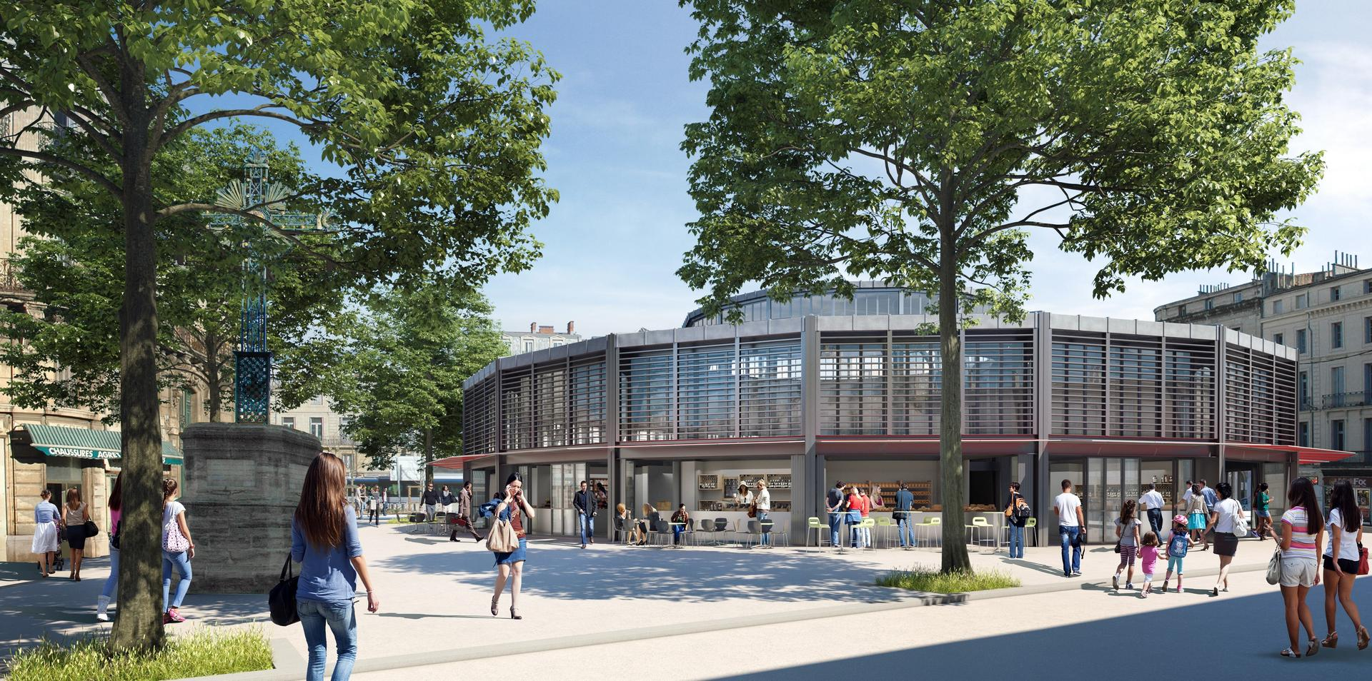 Les futurs halles Laissac de Montpellier